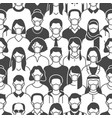 crowd people in face masks seamless pattern vector image vector image