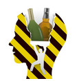 danger alcohol addiction vector image