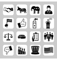 Election and voting icon set vector image