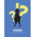 Experience business banner with woman silhouette vector image