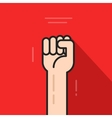 Fist hand up revolution logo idea freedom symbol vector image vector image