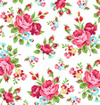 Floral pattern with red rose vector image