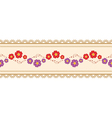 Flower ribbon vector image vector image