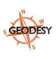 geodesy and the wind rose symbol vector image