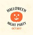 halloween emblem template logo badge vector image vector image
