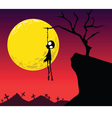 halloween hanging vector image