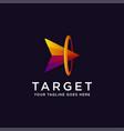 head arrow on target logo icon