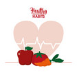 healthy habits lifestyle vector image vector image