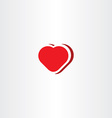 heart icon symbol red love sign vector image vector image
