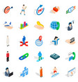 human occupation icons set isometric style vector image vector image