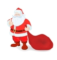 Ilustration for Christmas and New Year Santa vector image vector image