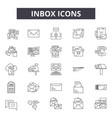 inbox line icons signs set linear vector image vector image