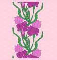 iris hand-drawing vector image vector image