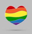 lgbt love peace pride gay pride sign vector image vector image