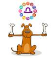 libra zodiac sign with cartoon dog vector image vector image