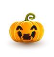 lucky laughing halloween pumpkin vector image