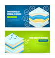 mattress layers material banners vector image vector image