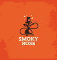 modern professional sign logo smoky rose vector image vector image