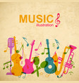 music abstract template vector image