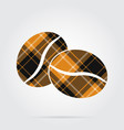 orange black tartan icon - two coffee beans vector image vector image