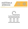 orthopedic mattress scheme line icon vector image vector image