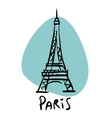 Paris the capital of France Eiffel tower vector image