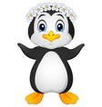penguin hawaiian cartoon vector image vector image
