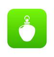 perfume bottle merchandise icon green vector image vector image