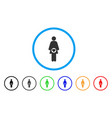 pregnant woman rounded icon vector image vector image