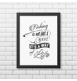 Quote typographical Background in the black frame vector image vector image
