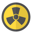radioactive icon flat style vector image vector image