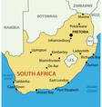 Republic of South Africa - map vector image vector image