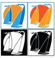 sailing set vector image vector image