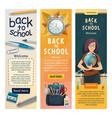 school teacher at class blackboard banners vector image