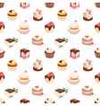 seamless pattern with sweet sugar desserts pieces vector image