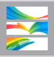set banners of curved multicolored elements vector image vector image