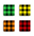 set color texture plaid templates for clothing vector image
