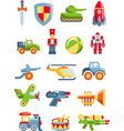 set toys for boys vector image vector image