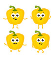 set with cartoon peppers vector image vector image