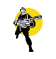 soldier serviceman with grenade launcher vector image