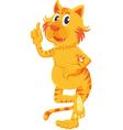 standing cat vector image vector image