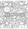 technology background with media icons hand vector image vector image