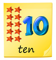 Ten stars vector image vector image