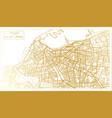 tripoli libya city map in retro style in golden vector image vector image