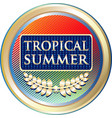 tropical summer icon vector image vector image