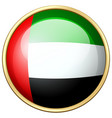 united arab emirates flag on round icon vector image vector image