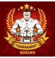 Vintage boxing emblem label badge logo and vector image