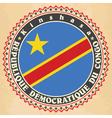 vintage label cards democratic republic the vector image
