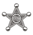 vintage sheriff badge star concept vector image