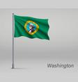 waving flag washington - state united vector image vector image